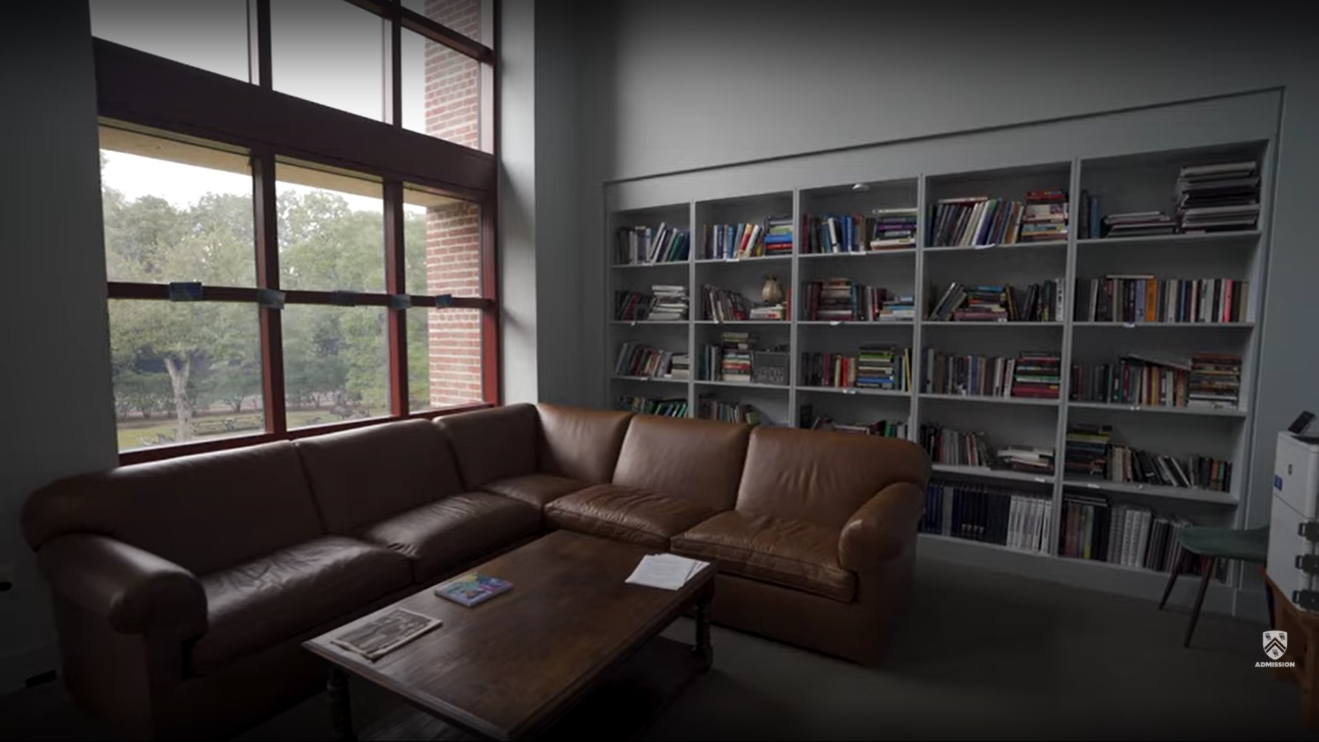Picture showing the small library inside of Martel College.
