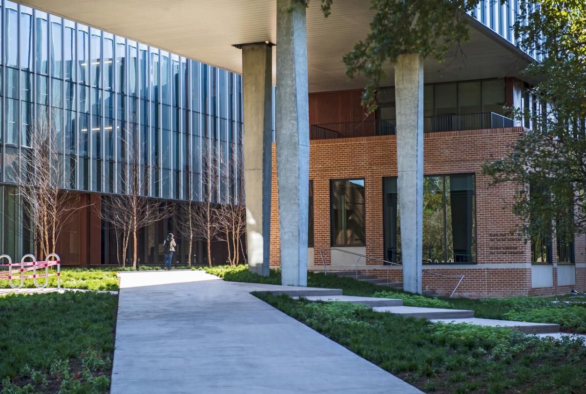 Outside view of Kraft Hall.