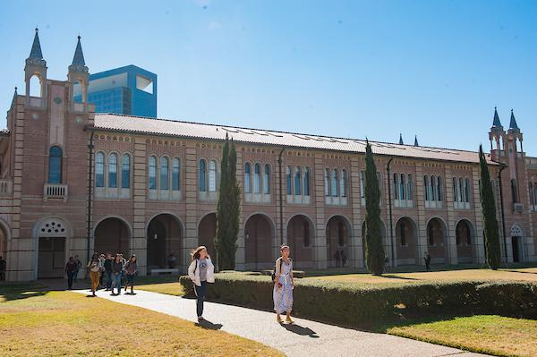 Picture of the side of Sewall Hall, taken from the Academic Quad